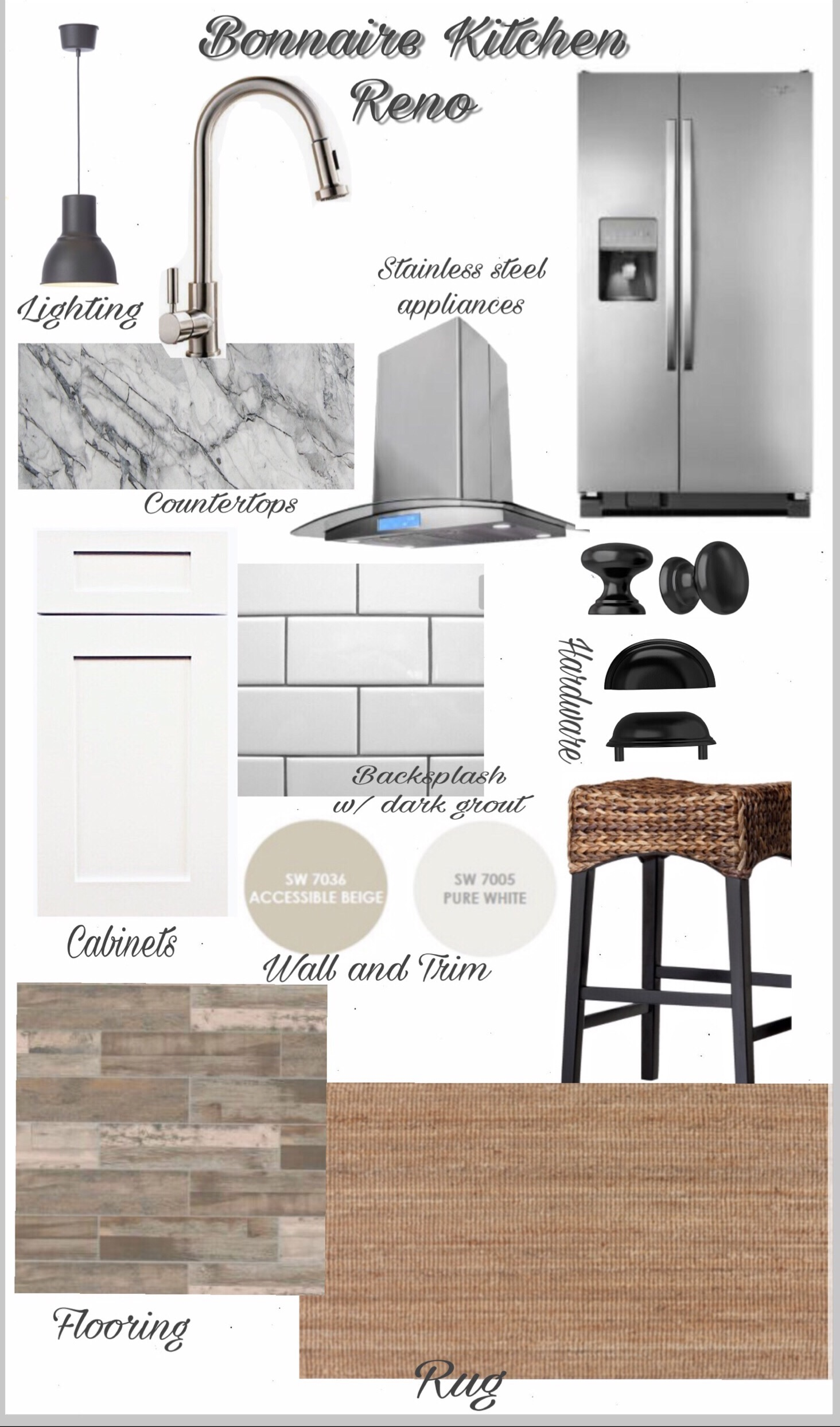 Kitchen Reno design board