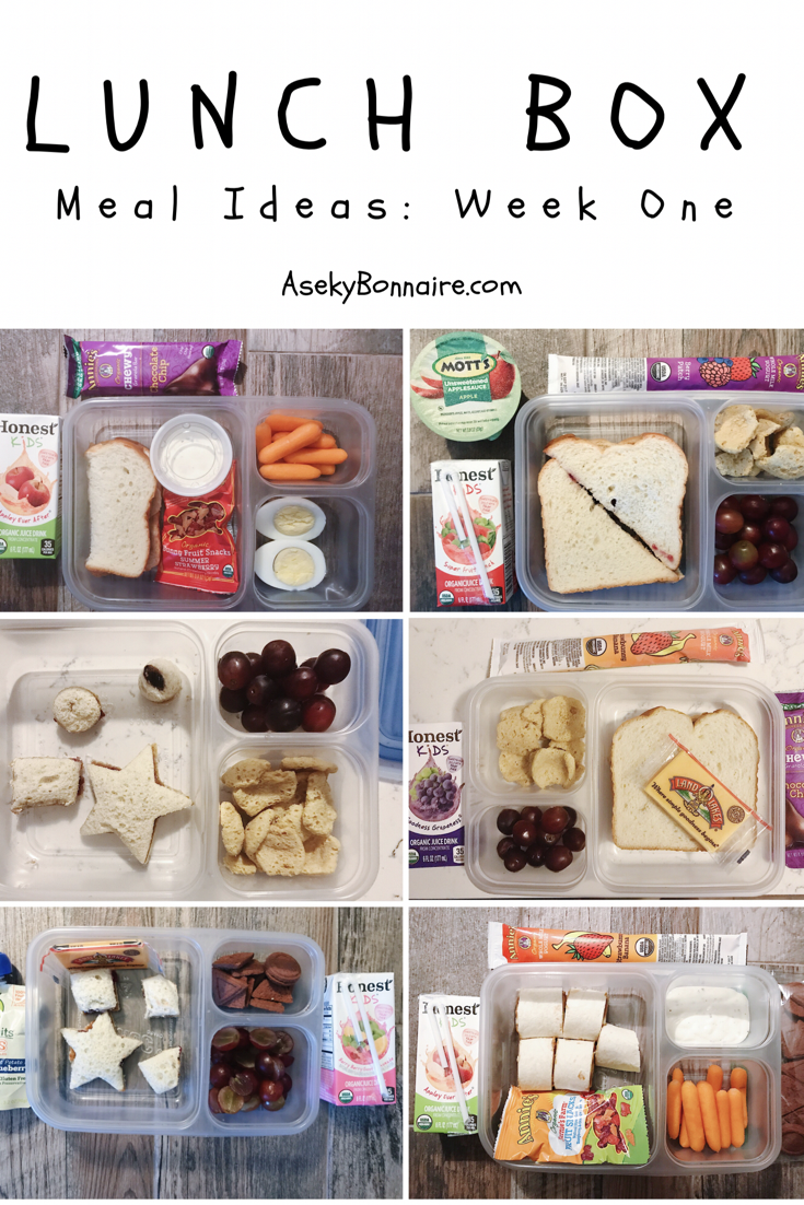 Lunchbox Meal Ideas: Week One