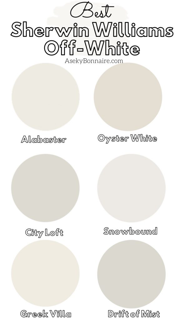 My Favorite Sherwin Williams Off White Paints Aseky Co